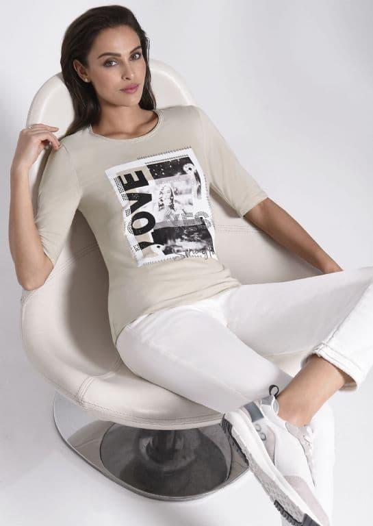 ICONA BEIGE LOVE TOP