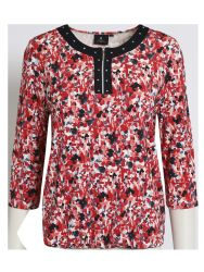 BRANDTEX CAYENNE FLORAL PRINT TOP WITH ELASTICATED WAISTBAND