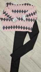 PINK BATWING PATTERNED SOFT KNIT TOP