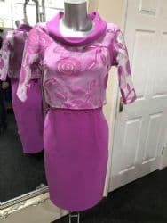 Lizabella Fushia Dress With Sheer Jacket
