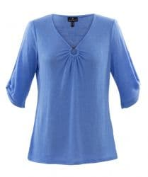 MARBLE BLUE TOP WITH RING DETAIL
