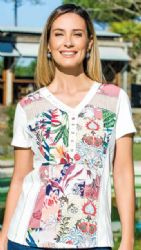 KALISSON FLOWER PRINT TOP