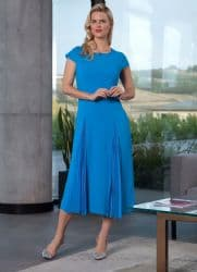 ELLA BOO BLUE PLEAT DRESS