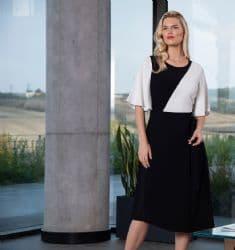 ELLA BOO BLACK & WHITE COLOUR BLOCK DRESS