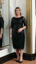 ELLA BOO BLACK FEATHER DRESS
