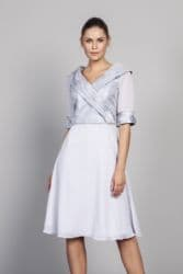 LIZABELLA  SILVER CHIFFON  DRESS