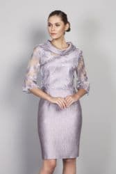LIZABELLA LILAC EMBOSSED DRESS AND JACKET
