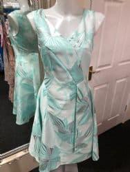 Ella Boo Mint Green Flared Midi Dress