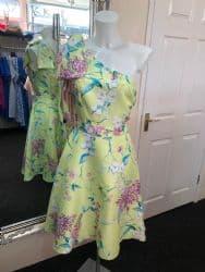 Ella Boo Lime Floral Print
