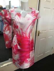 Ella Boo Cerise Graphic Print Dress
