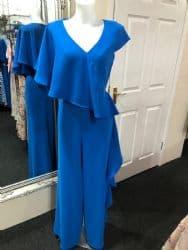 Ella Boo Frill Jumpsuit Blue