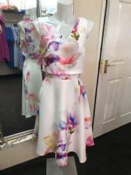 Ella Boo Neon Flower Flared Dress
