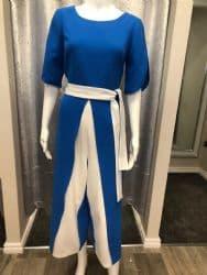 Ella Boo Jumpsuit Blue & White