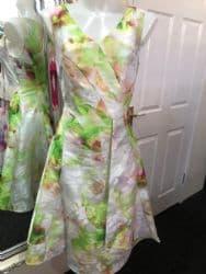 Ella Boo Lime Flared Dress