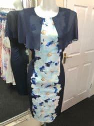 Lizabella Navy Print Dress