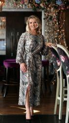 ELLA BOO GREY PRINT DRESS
