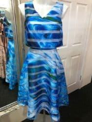 Ella Boo Blue Stripe Flared Dress