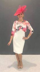 Lizabella Floral Overlay Dress