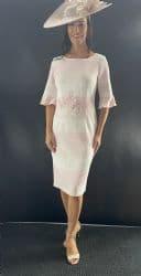 LIZABELLA BLUSH PINK STRIPED DRESS