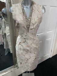ELLA BOO GOLD EMBOSSED DRESS