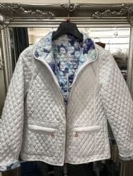 NORMANN WHITE QUILTED REVERSICLE JACKET