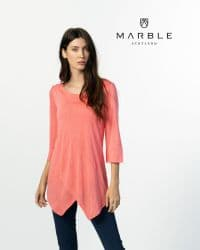 MARBLE CORAL TUNIC TOP WITH VEST