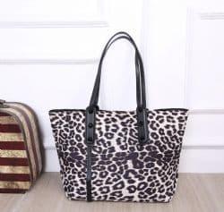 BLACK LEOPARD BAG
