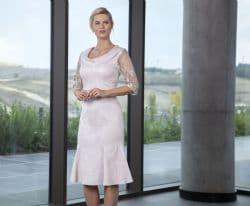 Lizabella Soft Pink Flared Hem Dress