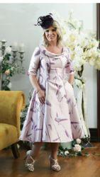 LIZABELLA PINK  PRINT FLARED DRESS