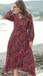 ELLA BOO RED ANIMAL PRINT DRESS