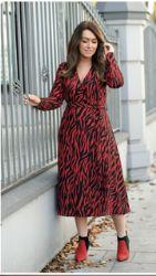 DARLING RED ZEBRA PRINT DRESS