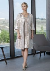 Lizabella Gold Embossed Dress And Jacket